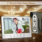 "7"" LCD Video Door Phone Doorbell Alloy Panel Intercom Kit Camera Monitor EU B1C5"