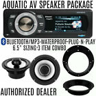 "Aquatic AV Bluetooth 5UBT-HS Radio w/ Sport Series 200W 6.5"" Speakers Batwing 98"