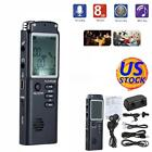 8GB 1536Kbps Rechargeable LCD Audio Sound Voice Recorder Dictaphone MP3 Player