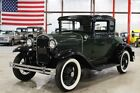 1931 Ford Model A -- 1931 Ford Model A  90099 Miles Green Coupe 4 Cylinder Manual