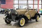 1931 Ford Model A Deluxe Roadster 1931 Ford Model A Deluxe Roadster 1755 Miles Tan Convertible 4 Cylinder 3 Speed