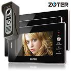 """7"""" inch LCD Video Door Phone Intercom with 3 Black 16:9 Color Indoor Monitors"""