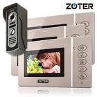 """4.3"""" inch TFT LCD Color Screen Video Door Phone Intercom 3 Monitors Kit Set"""