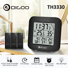 Digoo 3 Channels Digital In&Out Hygrometer Thermometer Sensor Snooze Alarm Clock