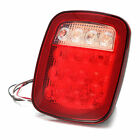 Red/white Truck Trailer Boat for Jeep Stop Turn Tail back up 16 LED Light Mount