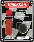QUICKCAR RACING PRODUCTS 3-3/8 x 4-1/4 in Dash Mount Switch Panel P/N 50-053