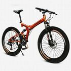 "Men's 26"" 21 SP Mountain Bike Folding Bike MTB Double Disc Brake Air Suspension"