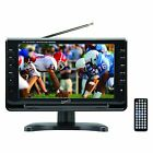 """Supersonic 9"""" Portable Widescreen LCD TV with Built in Digital TV Tuner in Black"""