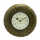 Handmade Vintage Indian Brass Coin Wall Clock (18 x 18 inch)