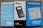 Lot of 3 TI Texas Instruments Calcultaor manuals TI-81 TI-82 and Personal Banker
