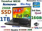 (3D Design FHD) Thinkpad W530 i7-QUAD (Blu-Ray 256GB SSD+1TB 16GB) 15.6 nVIDIA