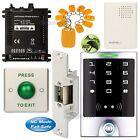 DIY Access Control Entry Key Ring Kit + Electric Strike Door Lock NC Fail Safe