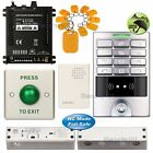 Access Control Password Kit + Electric Bolt Glass Door Lock NC Fail Safe