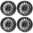 4 ATV/UTV Wheels Set 12in ITP SD Beadlock Matte Black 4/137 5+2 TER