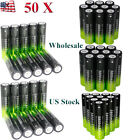 50PC Li-ion 3.7V Rechargeable 18650 Batteries For LED Flashlight Light Torch USD