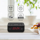 Excelvan LED Digital Digital AM/FM Alarm Clock Radio Snooze Black CR-246-EU
