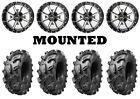 Kit 4 Arisun Swamp Thing Tires 28x10-14 on Frontline 556 Machined Wheels IRS