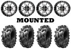Kit 4 Arisun Swamp Thing Tires 28x10-14 on Frontline 556 Machined Wheels HP1K