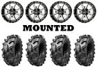 Kit 4 Arisun Swamp Thing Tires 28x10-14 on Frontline 556 Machined Wheels FXT