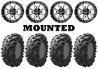 Kit 4 Kenda Bearclaw K299 Tires 26x9-12/26x11-12 on Frontline 556 Machined HP1K