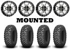 Kit 4 Kenda Mastodon HT Tires 28x10-14 on Frontline 556 Machined Wheels TER