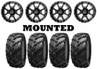 Kit 4 Interco Reptile Tires 25x8-12/25x10-12 on Frontline 556 Black Wheels CAN
