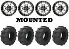 Kit 4 Arisun Tuff Mudder Tires 26x9-12 on Frontline 556 Machined Wheels FXT