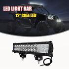 "12"" Inch LED Light Bar Fog Driving Lamp Can-Am Maverick Commander Kawasaki ATV"