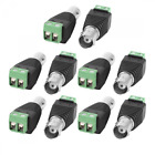 Inovat 10 Pairs Coaxial Camera Vedio BNC Female and Male Balun Connector for Coa