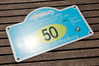 VINTAGE RALLY SIGN / PLAQUE # BMW VETERAN RALLY WANFRIED - EISENACH 1991 NO. 50