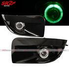 Green Halo LED Bumper Black Fog Lamp Lights fits 04 05 SUBARU IMPREZA WRX STI