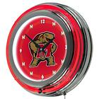 "NCAA Maryland University 14"" Neon Wall Clock"