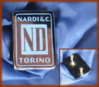 NARDI STEERING WHEELS - Historical metal logo badge mm 45x32