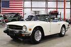 TR-6 -- 1974 Triumph TR6  27209 Miles Snowberry White Convertible 2.5l I6 4 Speed Manual