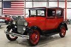 1928 Ford Model A -- 1928 Ford Model A  68807 Miles Bright Red Coupe 4 Cylinder 3 Speed Manual