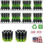 100pcs 3.7V Li-ion Rechargeable 18650 Battery For LED Flashlight Torch Lamp US 0