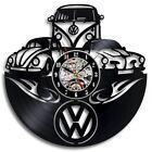Car Logo Vinyl Record Wall Clock Gift Friend 3D Decorative Hanging Wall Clocks