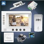 "HOMSECUR 7"" Video Door Entry Security Intercom+Silver Camera for Apartment"