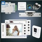 "HOMSECUR 8"" Wired Video Door Entry Security Intercom with White Monitor 1C2M"