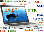 "SLIM Ultrabook HP Folio 9480m i5-4210u (256GB SSD + 2TB 16GB) 14"" Backlit BT FP"
