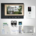 "HOMSECUR 7"" Wired Video&Audio Home Intercom+White Camera for House/Flat 1C1M"