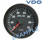 "VDO Viewline Tachometer LCD Hourmeter 8000 RPM 85mm 3"" Black A2C59510490"