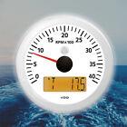 "VDO Viewline Tachometer LCD Hourmeter 4000 RPM 85mm 3"" White A2C59512397"