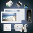 "HOMSECUR 7"" Video&Audio Home Intercom+Metal Case Camera for Home Security"