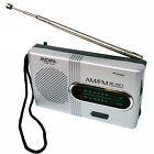 Battery Powered Ourtdoor Portable Telescopic Antenna Radio World Receiver AM/FM