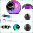 New Color Changing Bluetooth Dual Alarm Clock FM Radio And USB Charging Speaker
