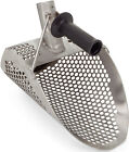 "Stainless Metal Detector Sand Scoop Shovel Hexagon Holes Handle  11"" x 8"" New"