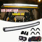 """50"""" In Curved LED Light Bar Fit Can-am Maverick X3 DS RS MAX Upper Roof Bracket"""