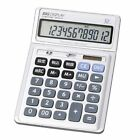 Saint-Germain 12-digit desktop calculator GENTOS Big display Silver DR-0412T