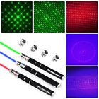 3PCS 5mw Powerful 5in1 Laser Pointer Pen Laser Flashlight Beam Light+5 Star Caps